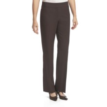 Atelier Luxe Salt & Pepper Modern Straight Leg Pants (For Women) in Brown - Closeouts