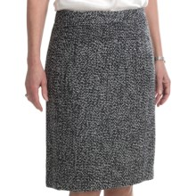 Atelier Luxe Straight Boucle Skirt (For Women) in Black/White - Closeouts