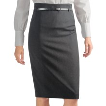 Atelier Luxe Straight Skirt - Belted (For Women) in Charcoal - Closeouts