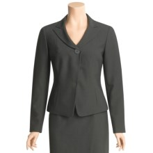 Atelier Shadow Stripe Suit Jacket - Pleated Back (For Women) in Black/Grey - Closeouts