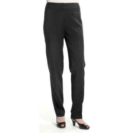 Atelier Slim Leg Pants - Stretch Twill (For Women) in Charcoal - Closeouts