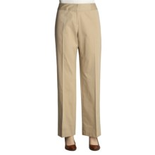 Atelier Stretch Cotton Pants - Zigzag Waistband (For Women) in Khaki - Closeouts