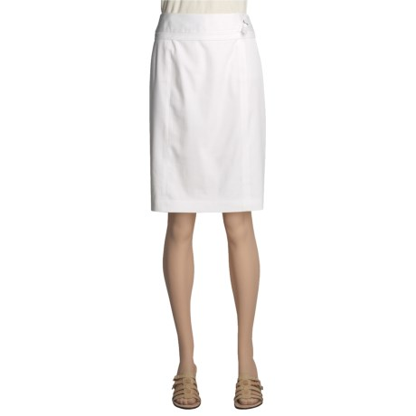 Atelier Stretch Cotton Skirt - Tiered Waistband (For Women) in White