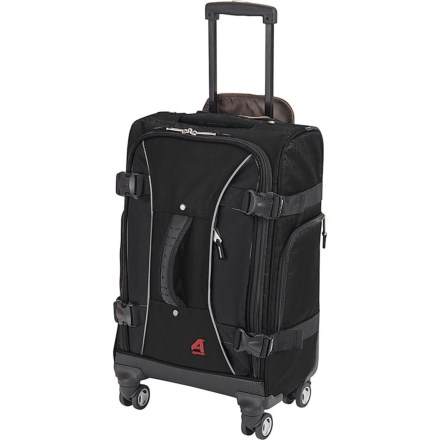 "5b1879135394 Athalon 21"" Hybrid Spinner Carry-On Suitcase in Black - Closeouts"