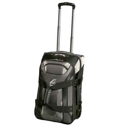 "Athalon 22"" Independence Pass Rolling Carry-On Suitcase in Gray/Black - Closeouts"
