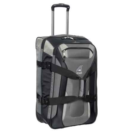 "Athalon 26"" Independence Pass Roller Suitcase in Gray/Black - Closeouts"
