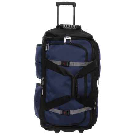"Athalon 29"" 15-Pocket Wheeled Duffel Bag in Blue/Black - Closeouts"