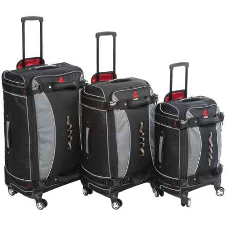 "Athalon 3-Piece Luggage Set - 21"", 25"", 29"" in Black - Closeouts"