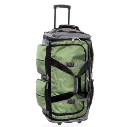 "Athalon 34"" 15-Pocket Wheeled Duffel Bag in Grass Gray - Closeouts"