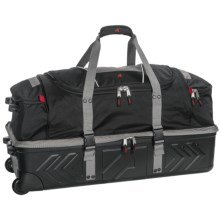 "Athalon Platinum Armored Rolling Duffel Bag - 32"" in Silver/Black - Closeouts"