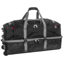 """Athalon Platinum Armored Rolling Duffel Bag - 32"""" in Silver/Black"""