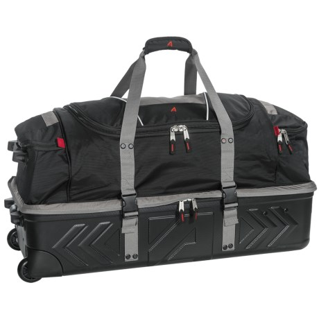 "Athalon Platinum Armored Rolling Duffel Bag - 32"" in Silver/Black"
