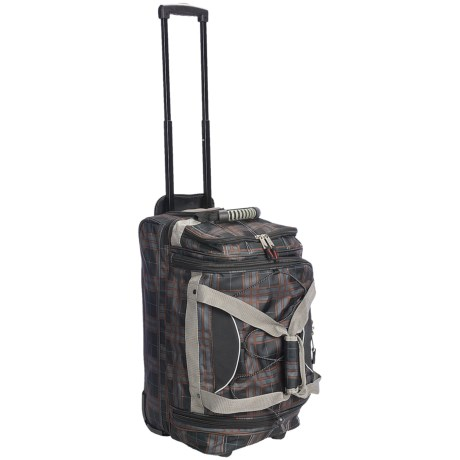"Athalon Rolling Equipment Duffel Bag -22"" in Plaid"