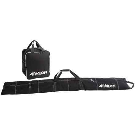 Athalon Ski and Boot Bag Set - 2-Piece in Black - Closeouts