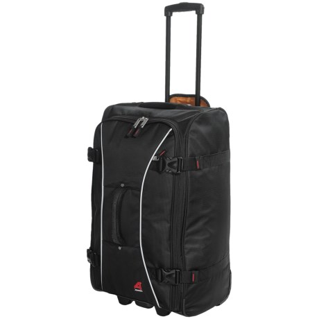 "Athalon Sportgear Hybrid 26"" Rolling Luggage in Black"