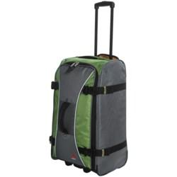 """Athalon Sportgear Hybrid 26"""" Rolling Luggage in Black"""