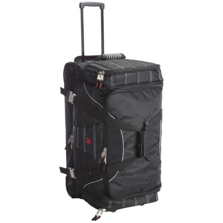 "Athalon Under/Over Rolling Duffel Bag - 29"" in Black"