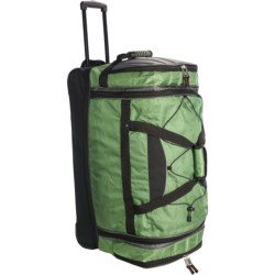 """Athalon Under/Over Rolling Duffel Bag - 29"""" in Black"""