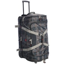 "Athalon Under/Over Rolling Duffel Bag - 29"" in Plaid - Closeouts"