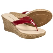 Athena Alexander Aloha Sandals - Wedge Heel (For Women) in Red Patent - Closeouts