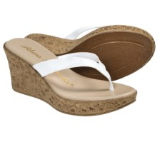 Athena Alexander Aloha Sandals - Wedge Heel (For Women) in White Patent - Closeouts