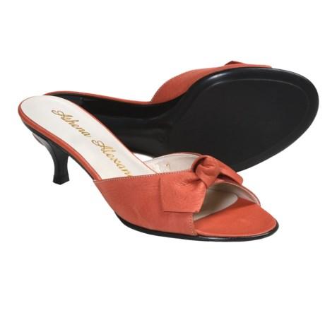 Athena Alexander Becka Sandals - Kitten Heel, Peep Toe (For Women) in Coral