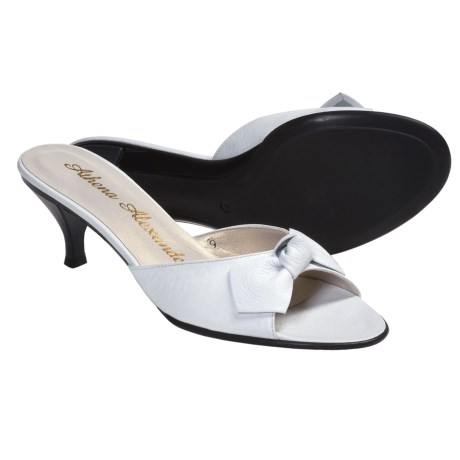 Athena Alexander Becka Sandals - Kitten Heel, Peep Toe (For Women) in White