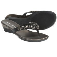 Athena Alexander June Sandals - Wedge (For Women) in Black - Closeouts