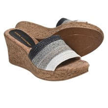 Athena Alexander Madrid Sandals - Wedge Heel (For Women) in Black - Closeouts