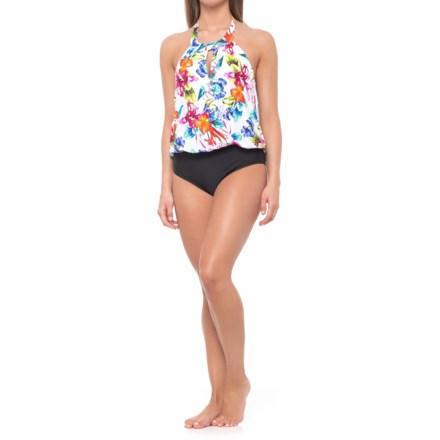 5173e839f013e Athena Tropical Trip High Neck One-Piece Swimsuit - Underwire