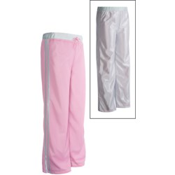 Athletic Drawstring Pants - Reversible (For Girls) in Pink