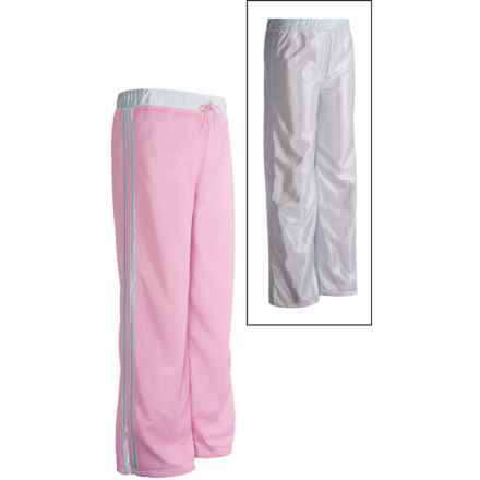 Athletic Drawstring Pants - Reversible (For Girls) in Pink - 2nds
