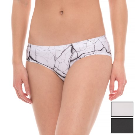 Athletic Essentials Bonded Panties - Hipster, 3-Pack (For Women) in Granite Print/Solid Light Grey/Solid Black