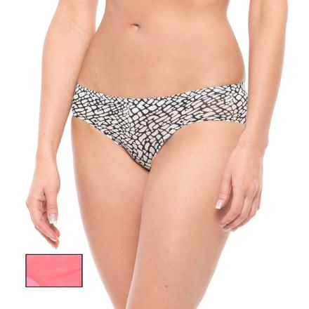 Athletic Essentials Mesh Panties - Hipster, 2-Pack (For Women) in Black White Monarch Print/Nebula Solid - Closeouts