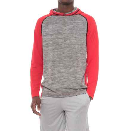 Athletic Hoodie Shirt - Long Sleeve (For Men) in Red - 2nds