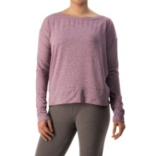Athletic Shirt - Boat Neck, Long Sleeve (For Women) in Purple - Closeouts