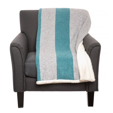 Image of Athletic Stripe Sherpa Throw Blanket - 50x60? Reversible
