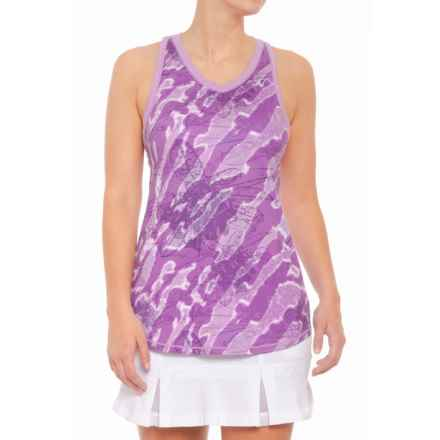 AthleticDNA Botanic Racerback Tank Top (For Women) in Lilac - Closeouts