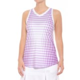 AthleticDNA Racket Patterned Racerback Tank Top (For Women)