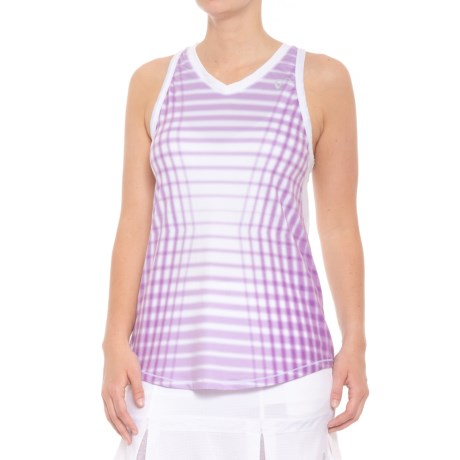 AthleticDNA Racket Patterned Racerback Tank Top (For Women) in Lilac