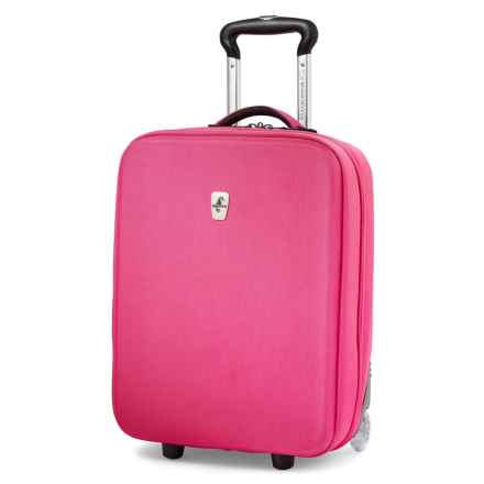 "Atlantic Debut Hardside Upright Rolling Carry-On Suitcase - 20"" in Pink - Closeouts"