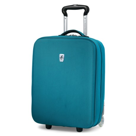 """Atlantic Debut Hardside Upright Rolling Carry-On Suitcase - 20"""" in Turquoise"""