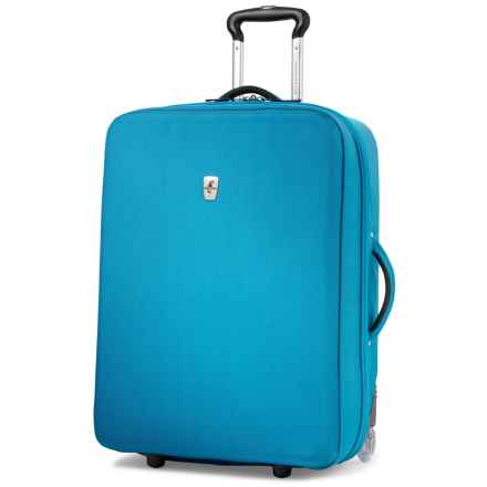 """Atlantic Debut Hardside Upright Rolling Suitcase - 25"""" in Turquoise - Closeouts"""