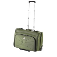 Atlantic Graphite Lite 3 Rolling Garment Bag - Carry-On in Green - Closeouts