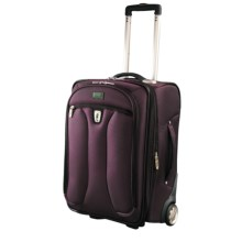 "Atlantic Optima Expandable Wheeled Upright Suitcase - 20"", Carry-On in Plum - Closeouts"