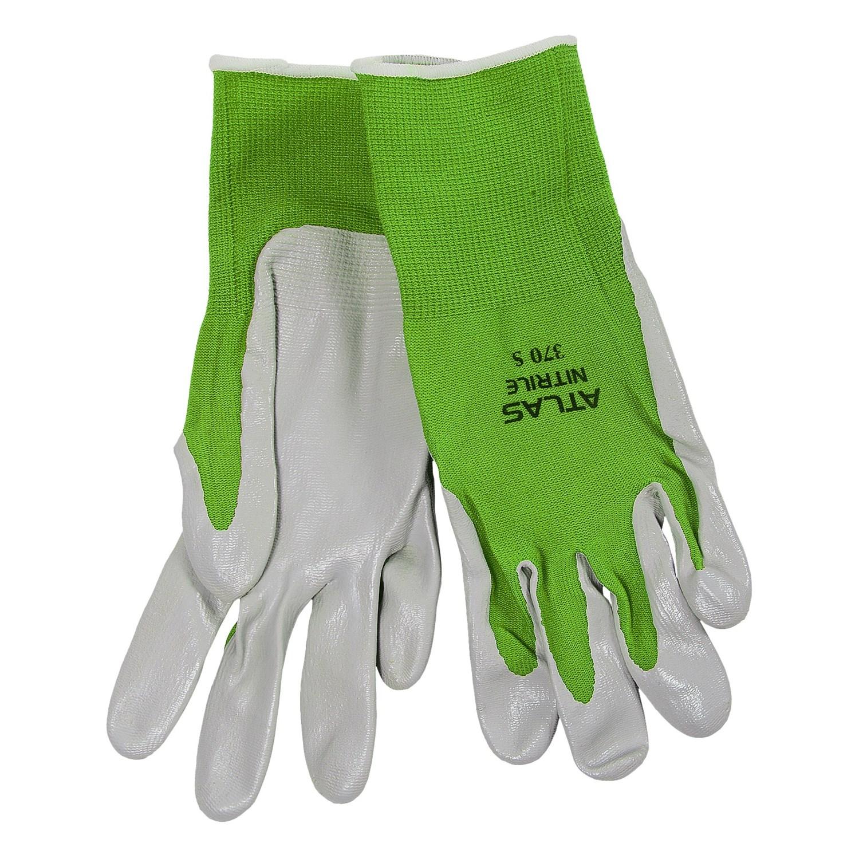 Atlas 370 Gardening Gloves Nitrile Palm For Women in Lime