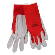 Atlas 370 Gardening Gloves - Nitrile Palm (For Women) in Red - Closeouts