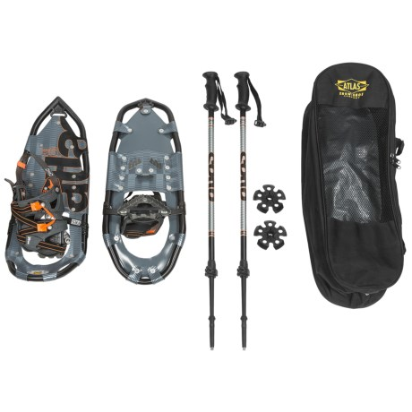 "Atlas 925 Snowshoes - 25"" in Charcoal/Flame"