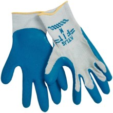 Atlas Fit Rubber-Palm Gloves (For Men and Women) in Grey/Blue - Closeouts