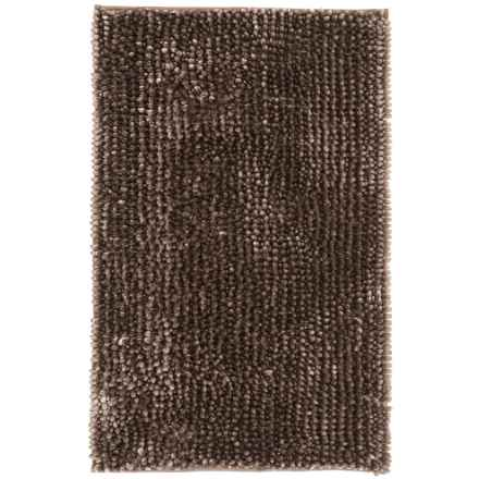 """Aubrey Chenille Noodle BATH RUG- 21X34"""""""" in Taupe - Closeouts"""